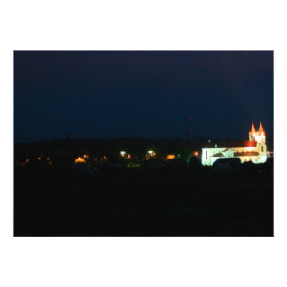Luzes da igreja da cidade convites personalizados