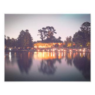 Luzes da noite no parque de Hermann Impressão De Foto