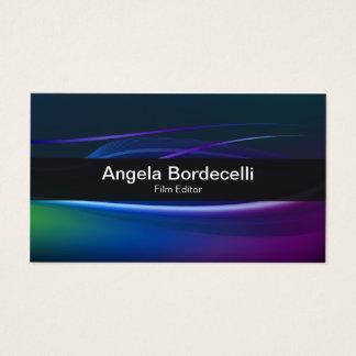 Luzes de Borealis do cartão de EditorBusiness do