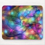 luzes de incandescência do arco-íris mouse pad