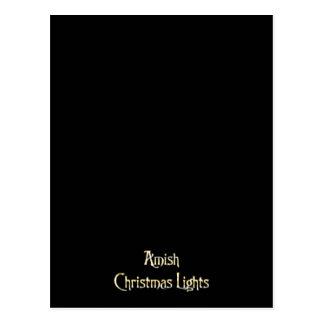 Luzes de Natal de Amish Cartões Postais