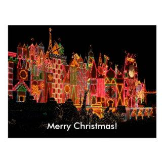 Luzes de Natal no cartão das atracções turísticas
