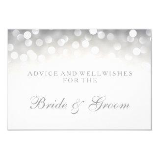 Luzes de prata elegantes de Bokeh do cartão do Convite 8.89 X 12.7cm