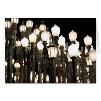 Luzes de rua no cartão da foto de Los Angeles
