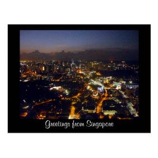 luzes de singapore cartões postais