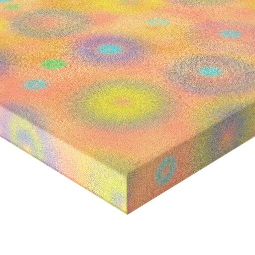 Luzes do dente-de-leão impressão de canvas envolvidas