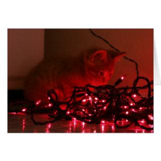 Luzes do feriado cartão