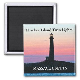 Luzes do gêmeo da ilha de Thacher, ímã de Ímã Quadrado