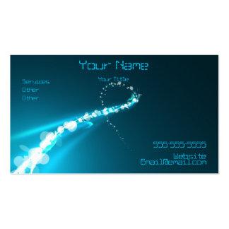 Luzes e cartão de visita abstratos das cores