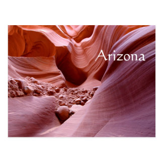 Luzes e rochas na garganta, arizona cartão postal