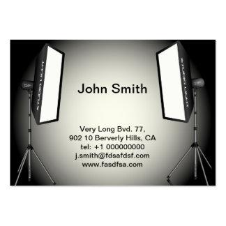 Luzes fotográficas cartões de visita