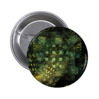 Luzes no botão da arte abstracta da cidade (redond bóton redondo 5.08cm