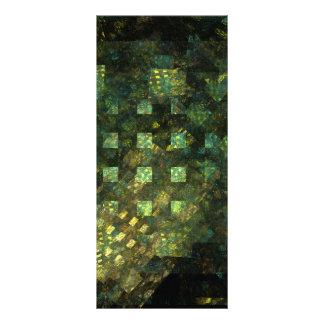 Luzes no cartão da cremalheira da arte abstracta 10.16 x 22.86cm panfleto