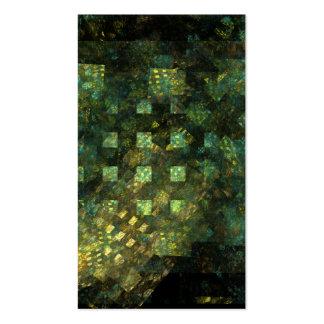 Luzes no cartão de visita da arte abstracta da