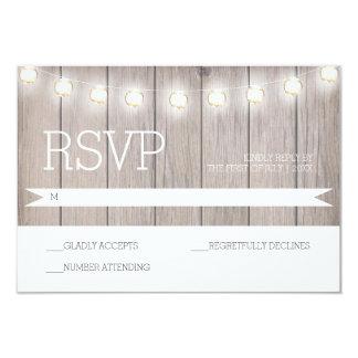 Luzes rústicas - cartão de RSVP Convite 8.89 X 12.7cm