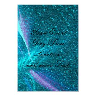 Luzes Sparkling, aqua Convite 8.89 X 12.7cm