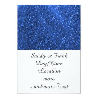 luzes sparkling azuis convite personalizado