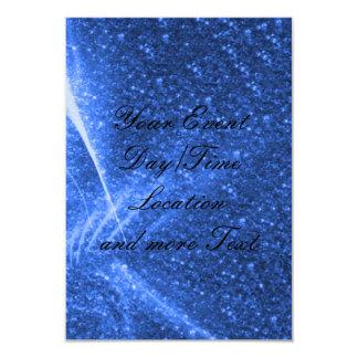 luzes sparkling azuis convite 8.89 x 12.7cm