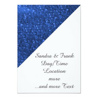 luzes sparkling azuis convites personalizados