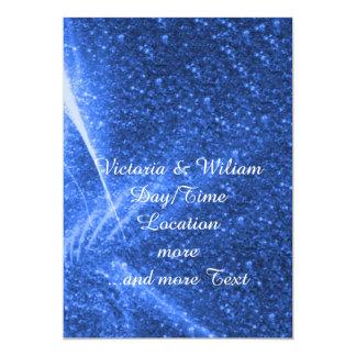 luzes sparkling azuis convite 12.7 x 17.78cm
