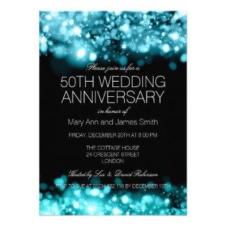 Luzes Sparkling de turquesa do aniversário de Convites Personalizados