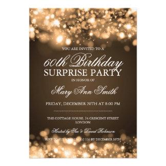 Luzes Sparkling do ouro da festa de aniversário da Convites Personalizados