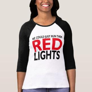 Luzes vermelhas tshirts