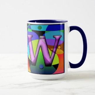 LW Monogramed, caneca de café rubricada, feita sob