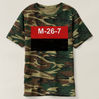 M-26-7 bandeira - Bandera del Movimiento 26 de Camiseta