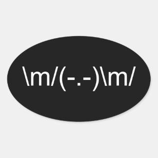 \ m acima dos chifres \ m adesivo oval
