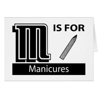 M é para Manicures Cartões