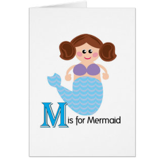 M é para o cartão Loveable das letras da sereia