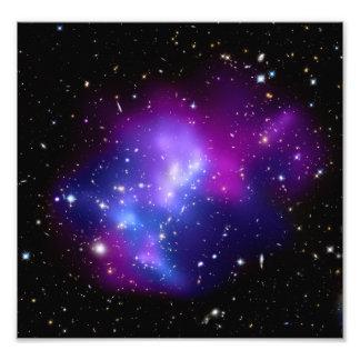 MAC J0717 do conjunto da galáxia (telescópio de Impressão De Foto
