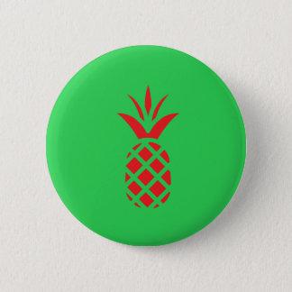Maçã do pinho vermelho no verde bóton redondo 5.08cm