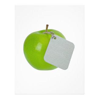 Maçã verde com Tag do metal Flyer 21.59 X 27.94cm