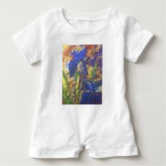 Macacão Para Bebê Abstrato da íris