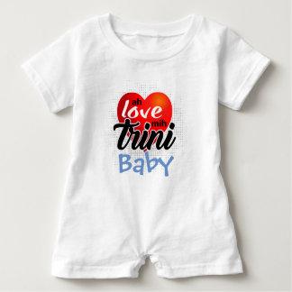 Macacão Para Bebê Ah mih Trini do amor (seu texto)! 4 lite