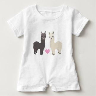 Macacão Para Bebê Alpacas e coração