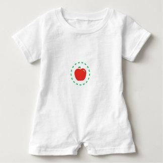 Macacão Para Bebê Apple vermelho