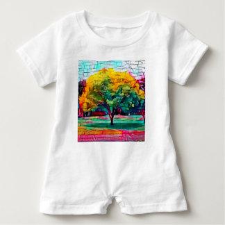 Macacão Para Bebê Árvore do outono em cores vívidas