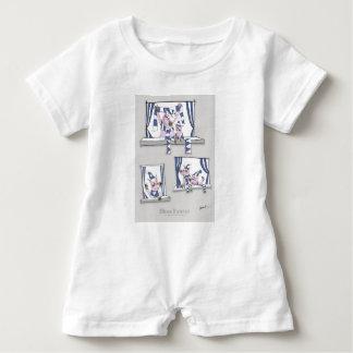 Macacão Para Bebê azuis leitães para sempre