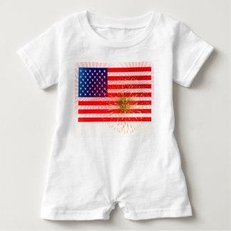 Macacão Para Bebê Bandeira americana