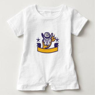 Macacão Para Bebê Bandeira da cabeça do vaqueiro do xerife do