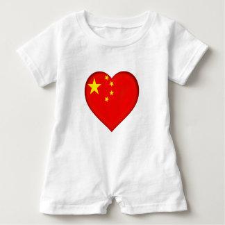 Macacão Para Bebê Bandeira da República Popular China