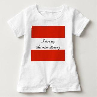 Macacão Para Bebê Bandeira de Áustria