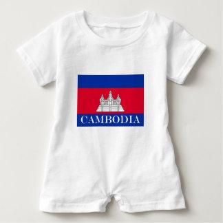 Macacão Para Bebê Bandeira de Cambodia