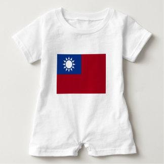 Macacão Para Bebê Bandeira de Formosa a República da China