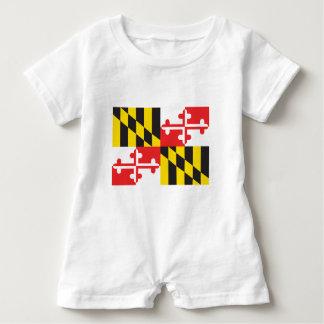 Macacão Para Bebê Bandeira de Maryland