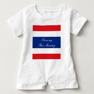 Macacão Para Bebê Bandeira de Tailândia