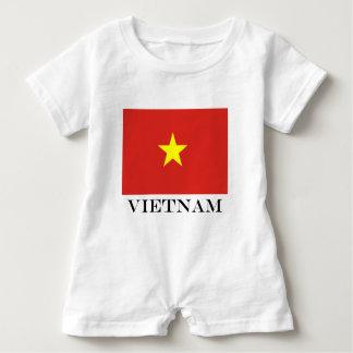 Macacão Para Bebê Bandeira de Vietnam